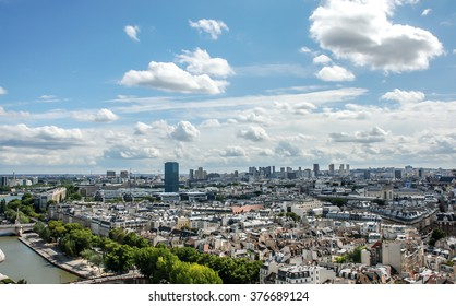 PARIS, FRANCE- AUGUST 18, 2014; View from Notre Dame Cathedral u can see all Paris