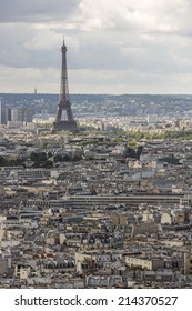 Paris, France - August 18: View of the Eiffel Tower in Paris, France on August 18, 2014. The Eiffel Tower was named after the engineer Gustave Eiffel, whose company designed and built the tower.