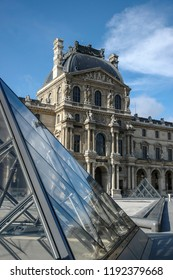 Paris, France - August 20, 2004: view on the Louvre Museum one of the the most visited monument of France.