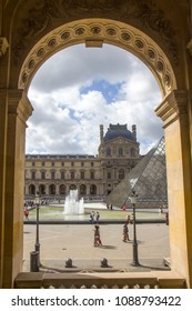 PARIS, FRANCE - AUGUST 20, 2017: The Louvre or the Louvre Museum is the world's largest museum and a historic monument in Paris, France.