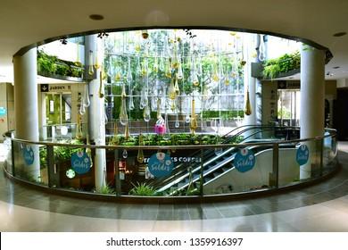 Paris; France - august 4 2018 : the Passage du Havre, a shopping mall