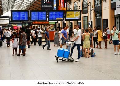 Paris; France - august 4 2018 : the Paris Saint Lazare station