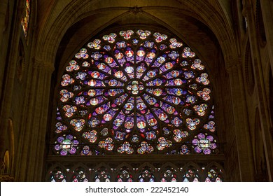 PARIS, FRANCE, August 5, 2014: Interior view of Notre-Dame Cathedral, a historic Catholic cathedral considered to be one of the finest examples of French Gothic architecture in Paris, France