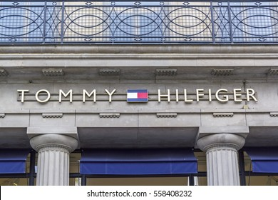 4aa97884 PARIS, FRANCE - August 6, 2016:Tommy Hilfiger store in Paris