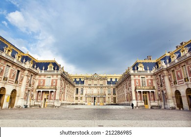 PARIS, FRANCE, August 7, 2014: Outside view of Famous palace Versailles. The Palace Versailles was a royal chateau. It was added to the UNESCO list of World Heritage Sites. Paris, France