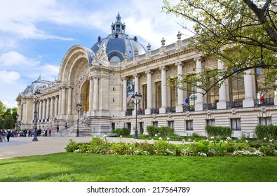 PARIS, FRANCE, August 9, 2014: The famous Petit Palais museum in Paris, France