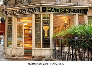 Paris / France - Circa 2008: Confiserie Patisserie shop window