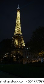 PARIS, France - circa 2016: Eiffel Tower Light Performance Show in Dusk. The Eiffel tower is the highest monument and also most visited monument of France.