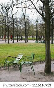 PARIS, FRANCE - CIRCA APRIL 2018: In  Jardin des Tuileries, Paris