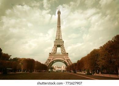 Paris, France – CIRCA October 2009: View on Eiffel Tower