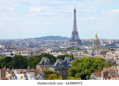 Paris, France - cityscape view with Eiffel Tower. UNESCO World Heritage Site.