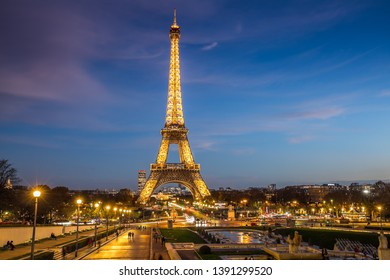 Paris, France - December 05,2018- Eiffel Tower in Paris at night