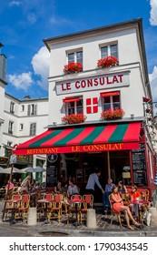 Paris, France - December 13,2015 - Cafe on Montmartre in Paris