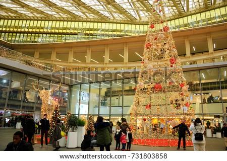 paris france december 18 2016 forum des halles modern shopping mall - Christmas Forum