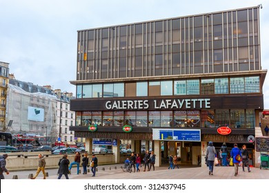 Paris, France - December 22, 2015: Galeries Lafayette in Montparnasse quarter