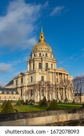 PARIS / FRANCE - DECEMBER 26, 2019: Les Invalides is a complex of museum and tomb in Paris,Napoleon's remains bury in here.