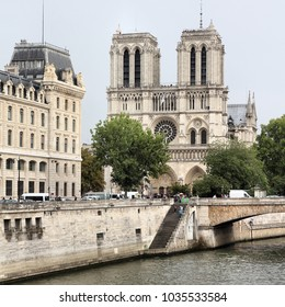 Paris, France - famous Notre Dame cathedral. UNESCO World Heritage Site.
