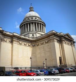 Paris, France - famous Pantheon in Latin Quarter. UNESCO World Heritage Site.