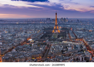 PARIS, FRANCE - FEB 28, 2015: The Eiffel Tower is one of the world's most famous landmark. It is also one of the most visited place in Paris, France.