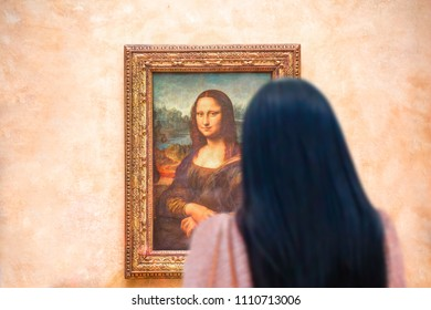 PARIS, FRANCE - FEBRUARY 06, 2016: Mona Lisa at the Louvre Museum.