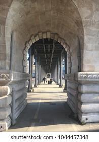 Paris, France / February 18th 2018: View of the Bir Hakeim bridge