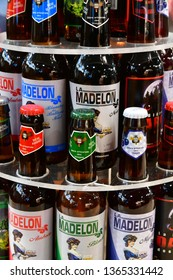 Paris; France - february 24 2019 : beer at the Paris International agricultural show, the largest and important one in Europe