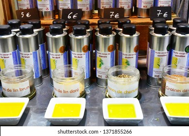 Paris; France - february 24 2019 : oil at the Paris International agricultural show, the largest and important one in Europe