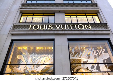 PARIS, FRANCE - FEBRUARY 25 : Louis Vuitton's clothing store in Champ Elysees Avenue on February 25, 2012 in Paris, France.