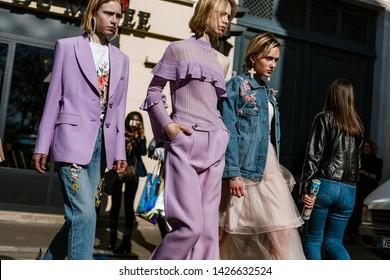 PARIS, FRANCE - FEBRUARY 26, 2019: Guests arriving DIOR show, during Paris Fashion Week Womenswear Fall/Winter 2019/2020.