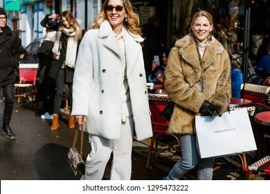 PARIS, FRANCE - FEBRUARY 27, 2018: Fashion writer and Founder of Belmodo Tiany Kiriloff seen outside Dior show at Paris Fashion Week Womenswear Fall/Winter 2018/2019.