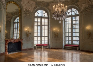 Paris, France February 6,2017  Museum of the National Archives Room Details Showing Classic French Interior