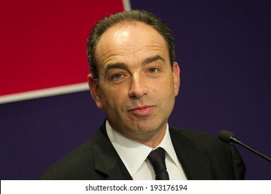 PARIS, FRANCE - FEBRUARY 9, 2011 : Jean-Francois Cope in press conference at UMP headquarter (French political party)