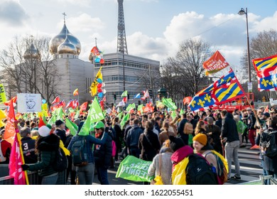 Paris, France - January 19 2020: Protest against government's project about Medically Assisted Procreation (PMA) and surrogate motherhood (GPA)