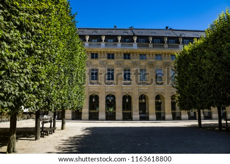 Paris France Jardin Du Palais Royal Garden Stock Photo Edit Now