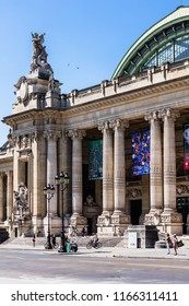 Paris, France - July 07, 2017: Grand Palais (Great Palace)  is a large historic site, exhibition hall and museum complex located at the Champs-Elysees.