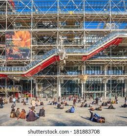 PARIS, FRANCE - JULY 13: facade of the Centre Georges Pompidou in Paris, France on July 13, 2012. The museum is the third most visited attraction in the city with about 5.5 million visitors per year.