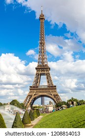 PARIS, FRANCE - JULY 14, 2014:  Eiffel Tower most visited monument in France and the most famous symbol of Paris