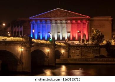 Paris France July 14th 2018 Bastille Day Palais Bourbon