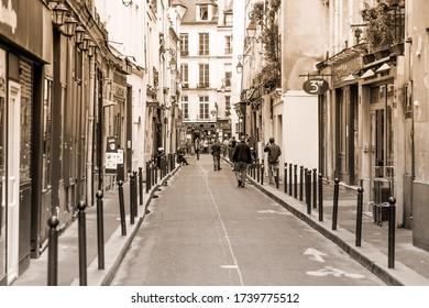 Paris, France - July 15,2015 - Street in Paris