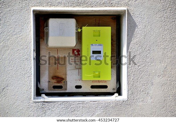 Paris, France - July 16, 2016 : New smart electric meter Linky from ERDF (Electricity Network Distribution France)