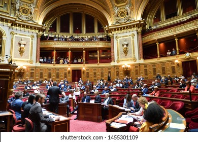 PARIS – FRANCE – July 18, 2019 – Session of questions to the Government at the French Senate