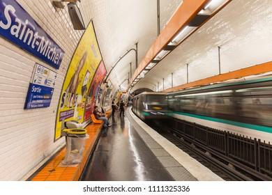 Paris, France - July 19,2015 - Metro in Paris