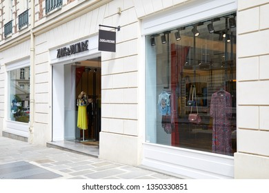 PARIS, FRANCE - JULY 22, 2017: Zadig and Voltaire fashion luxury store in Paris, France.