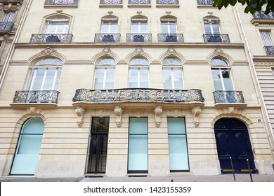PARIS, FRANCE - JULY 22, 2017: Givenchy building in avenue George V in Paris, France.