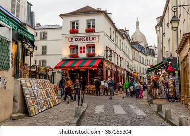Paris, France, July 26.2015 - cafe in Paris