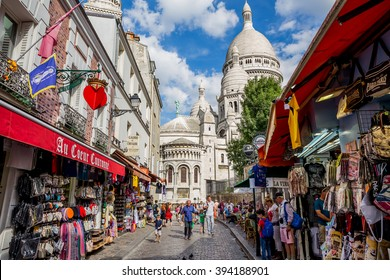 Paris, France, July 26.2015 - street on Montmartre in Paris
