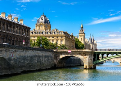 PARIS, FRANCE - JULY 29, 2017: Architecture of Paris, the capital of France. View from the Seine