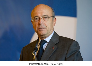 PARIS, FRANCE - JULY 7, 2011 : Alain Juppe during the presentation of his new team at the Ministry of Foreign Affairs in Paris July 7, 2011