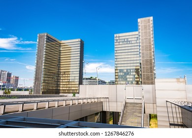 Paris, France. Jun 29th, 2018. Modern French architecture is on display at the François-Mitterrand Library in Paris.