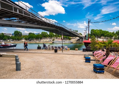 Paris, France. Jun 29th, 2018. The up and coming trendy neighbourhood next to the Bibliothèque François Mitterrand in the 13th arrondissement on the left bank of the Seine River in Paris.